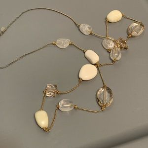Express gold and stone beaded necklace.